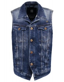Gstar 3301 Jkt S/less Bodywarmer Aiden Stretch Denim afbeelding