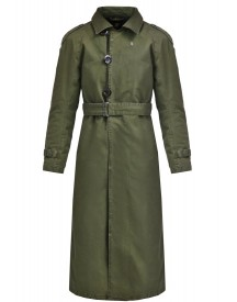 Gstar Minor Aline Loose Trench Trenchcoat Dark Bronze Green afbeelding