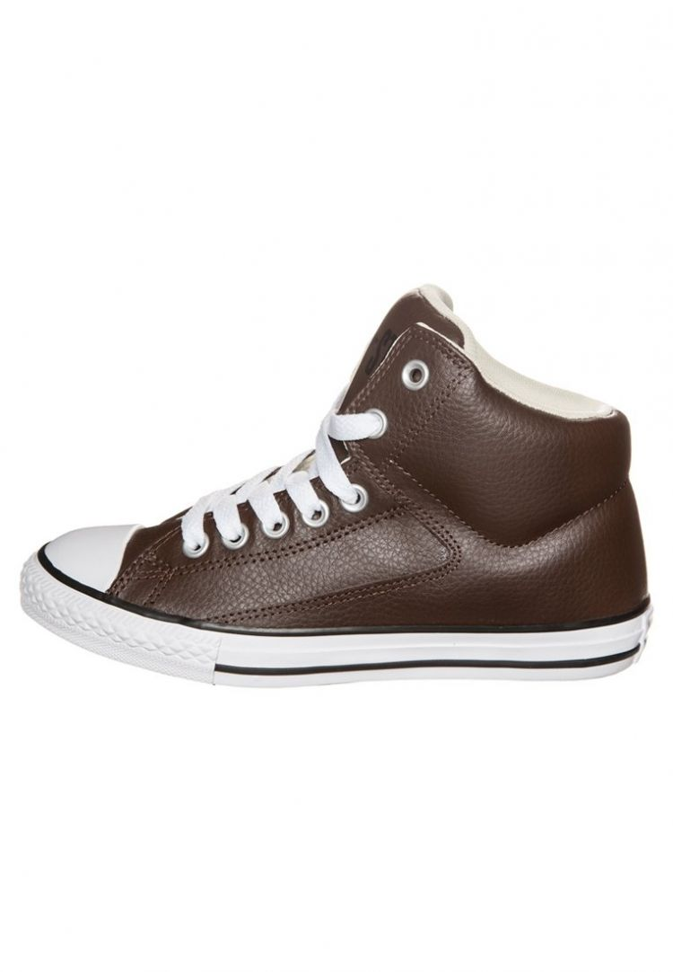 Image Converse Chuck Taylor Sneakers Hoog Chocolate/natural/white
