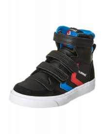Hummel Stadil Jr. Leather High Klittenbandschoenen Black/brilliant Blue/ribbon Red afbeelding