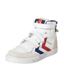 Hummel Stadil Jr. Leather High Sneakers Hoog White/lomoges Blue/red afbeelding