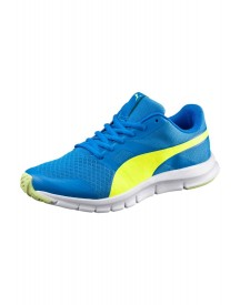 Puma Flexracer Jr. Sneakers Laag Electric Blue Lemonade/safety Yellow afbeelding