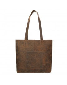 Bear Design Dark Nature Shopper Brown afbeelding