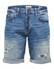 Only & Sons Weft Destroy Denim Short afbeelding