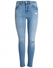 Pieces Cropped Raw Jeggings afbeelding