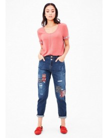 Nu 21% Korting: S.oliver Red Label Enkellange Girlfriend Fit: Jeans Met Applicaties afbeelding