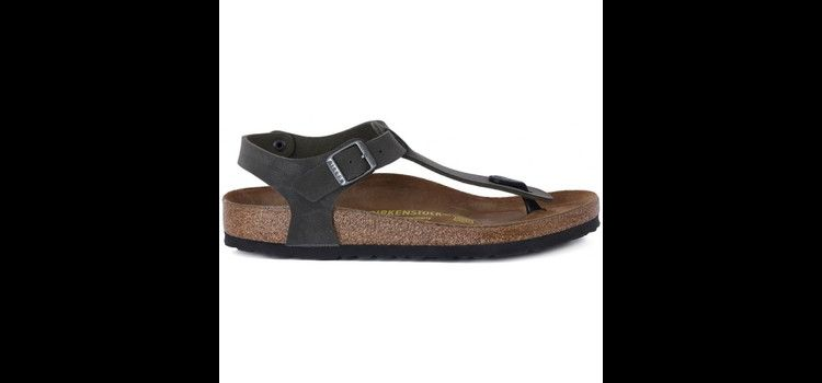 Image Teenslippers Birkenstock Kairo Brushed Green