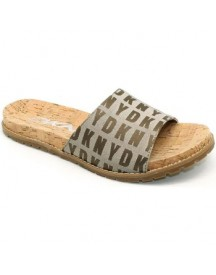 Teenslippers Dkny 23996306 - Chancl. Bd Logos Beiges Dkny afbeelding