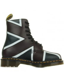 Laarzen Dr Martens Pascal Brit Navy Oxblood White Smooth Pu afbeelding