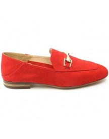 Mocassins Unisa Dames Instapper Durito Rood afbeelding