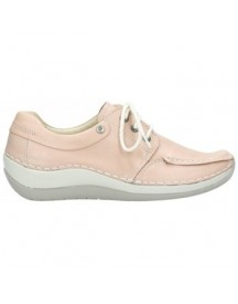 Mocassins Wolky 04800 Coral - 20620 Oud Roze Leer afbeelding