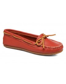 Mocassins Smooth Leather Moc By Minnetonka afbeelding