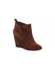 Boots En Enkellaarsjes Wedge Booty Stitch Suede By Tila March afbeelding