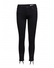 Nicole 002 Tie, Satin Black, Jeans 2nd One Jeans afbeelding