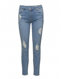 Nicole 084 Crop, Ripped Blue Worth, Jeans 2nd One Jeans afbeelding
