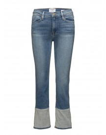 Le High Straight Reverse Cuff Frame Jeans afbeelding