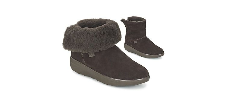 Image Enkellaarsjes Fitflop Supercush Mukloaff Shorty Suede