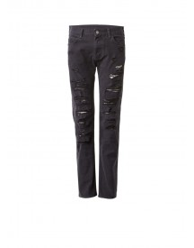 Armani J45 High Rise Slim Fit Jeans Met Ripped Look afbeelding
