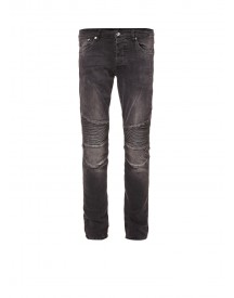 Chasin' Drake Low Rise Slim Fit Jeans Met Moto Look afbeelding