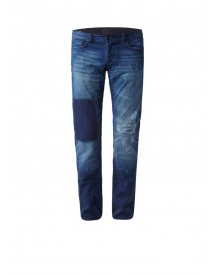 Chasin' Ego Tapared Kolonel Low Rise Slim Fit Jeans Met Destroyed Details afbeelding