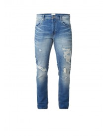 Chasin' Ego Low Rise Slim Fit Jeans Met Destroyed Details afbeelding