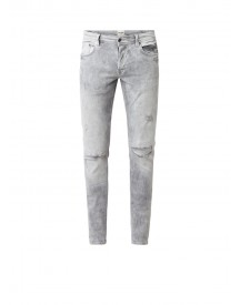 Chasin' Ego Low Rise Slim Fit Jeans Met Destroyed Look afbeelding