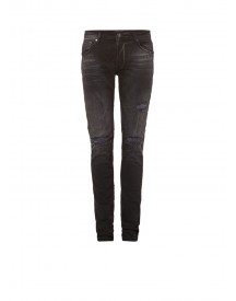Chasin' Ego Slim Fit Jeans Met Faded Wassing En Destroyed Details afbeelding