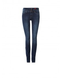 Claudia Sträter Mid Rise Skinny Jeans Met Faded Look afbeelding