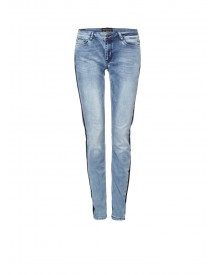 Expresso Abeldina Mid Rise Slim Fit Jeans Met Streep Details afbeelding