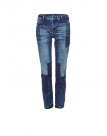 Expresso Abke Mid Rise Relaxed Fit Patchwork Jeans afbeelding