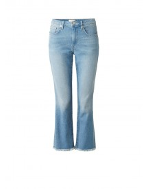 French Connection Ash High Rise Relaxed Kickflare Cropped Jeans afbeelding