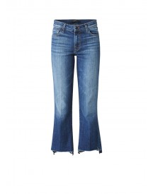 J Brand Selena Mid Rise Cropped Bootcut Jeans afbeelding