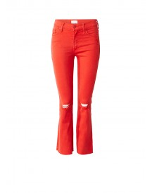 Mother Insider High Rise Cropped Jeans Met Destroyed Look afbeelding