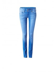 Pepe Jeans Vera Low Rise Slim Fit Jeans Met Faded Look afbeelding