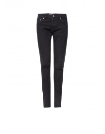 Sandro Mid Rise Skinny Fit Jeans Met Destroyed Details afbeelding