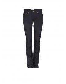 Sandro Paint Straight Fit Jeans In Ongewassen Denim afbeelding