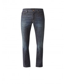 Ted Baker Sulph Straight Fit Jeans In Donkere Wassing afbeelding