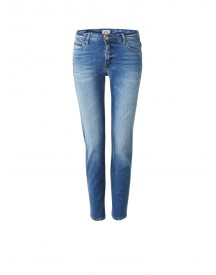 Tommy Hilfiger Cropped Straight Fit Jeans Met Faded Look afbeelding