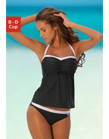 Lascana Bandeau-beugeltankini In Retro-look afbeelding