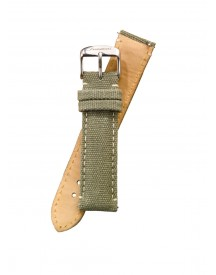 Fromanteel Horlogeband Canvas Leather Green S-016 afbeelding