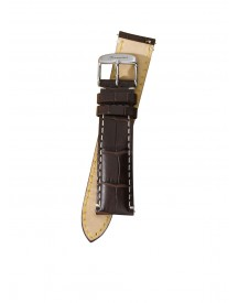 Fromanteel Horlogeband Calf Leather Dark Brown Croco S-009 afbeelding
