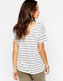 Esprit Cut Out Stripe Tee afbeelding
