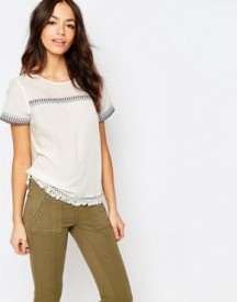 Esprit Embrodiered Folk Shell Top afbeelding