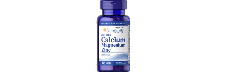 Image Chelated Calcium 1000 Mg, Magnesium 400 Mg & Zinc 25 Mg