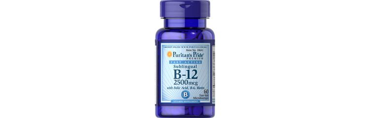 Image Vitamin B-12 2500 Mcg Sublingual With Folic Acid, Vitamin B-6 And Biotin 2500 Mcg