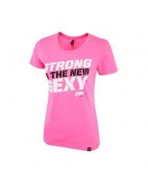 Womens Crew Neck Strong Is The New Sexy Hot Pink afbeelding
