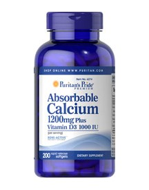 Absorbable Calcium 1200 Mg & Vitamin D 1000 Iu 1200 Mg afbeelding