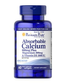 Absorbable Calcium 600mg, Magnesium 300mg & Vitamin D 1000iu afbeelding