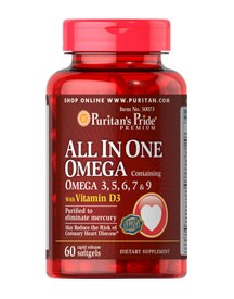All In One Omega 3, 5, 6, 7 & 9 With Vitamin D3 afbeelding