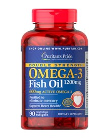 Double Strength Omega-3 Fish Oil 1200 Mg/600 Mg Omega-3 afbeelding